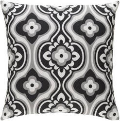 Surya Trudy Pillow Blossom Black - White