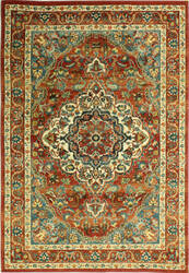 Bashian Buckingham B125-T014a Rust Area Rug