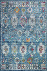 Bashian Charleston C186-Ro25a Blue Area Rug