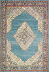 Bashian Everek E110-5433a Teal Area Rug