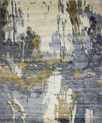 Bashian Cascade K153--Hsv8 Ivory - Blue Area Rug