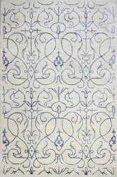 Bashian Greenwich R129-Hg305 Ivory - Blue Area Rug