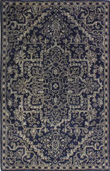 Bashian Bordeaux R129-Hg350 Navy Area Rug