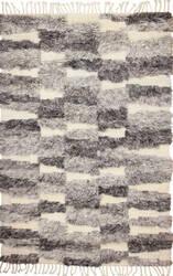 Bashian Shaggy S168-Bnsh8 Ivory - Grey Area Rug