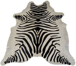 BS Trading Zebra Cowhide 147877 Black And White Area Rug
