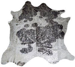 BS Trading Zebra Cowhide 147874 Silver And Black Area Rug