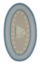Capel Anthony Baratta Maritime Sailboat 0383 Ocean Area Rug
