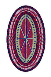 Capel Anthony Baratta Maritime Compass 0384 Ruby Area Rug