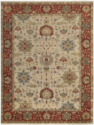 Capel Brandon 1908 Cream Red Area Rug