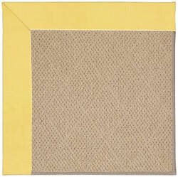 Capel Zoe Cane Wicker 1990 Yellow Area Rug