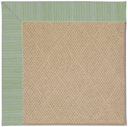 Capel Zoe Cane Wicker 1990 Green Spa Area Rug