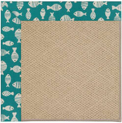 Capel Zoe Cane Wicker 1990 Sea Green Area Rug