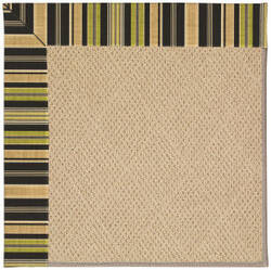 Capel Zoe Cane Wicker 1990 Charcoal Stripe Area Rug