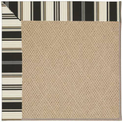 Capel Zoe Cane Wicker 1990 Onyx Stripe Area Rug