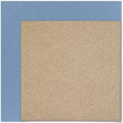 Capel Zoe Cane Wicker 1990 Medium Blue Area Rug