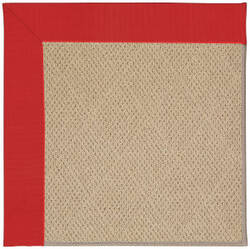 Capel Zoe Cane Wicker 1990 Red Area Rug