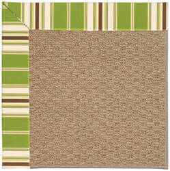 Capel Zoe Raffia 1992 Green Stripe Area Rug