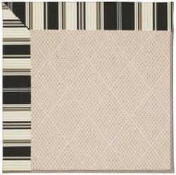 Capel Zoe White Wicker 1993 Onyx Stripe Area Rug