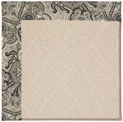 Capel Zoe White Wicker 1993 Black Orchid Area Rug