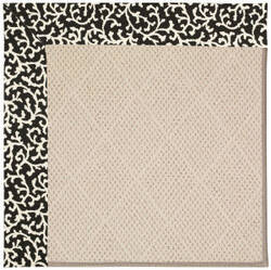 Capel Zoe White Wicker 1993 Black Cascade Area Rug