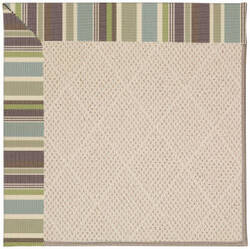 Capel Zoe White Wicker 1993 Blue Stripe Area Rug