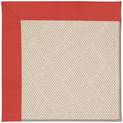 Capel Zoe White Wicker 1993 Sunset Red Area Rug