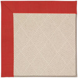 Capel Zoe White Wicker 1993 Red Crimson Area Rug