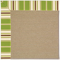 Capel Zoe Sisal 1995 Green Stripe Area Rug
