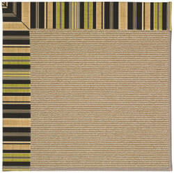 Capel Zoe Sisal 1995 Charcoal Stripe Area Rug