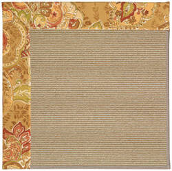 Capel Zoe Sisal 1995 Bronze Flowers Area Rug