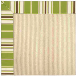 Capel Zoe Beach Sisal 2009 Green Stripe Area Rug