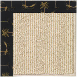 Capel Zoe Beach Sisal 2009 Jet Black Area Rug