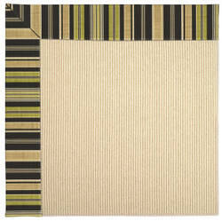 Capel Zoe Beach Sisal 2009 Charcoal Stripe Area Rug