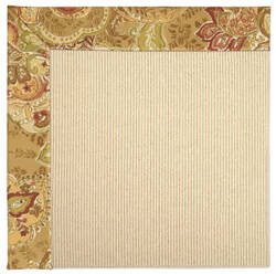 Capel Zoe Beach Sisal 2009 Bronze Flowers Area Rug