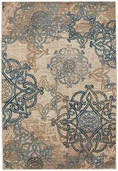 Capel Bethel Celtic 2461 Ecru Blue Area Rug