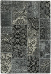 Capel Celestial Patchwork 3246 Nickel Ebony Area Rug