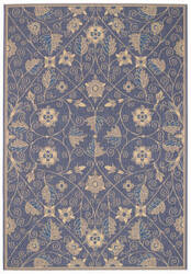 Capel Williamsburg Elsinore Garden Maze 4699 Blue Area Rug