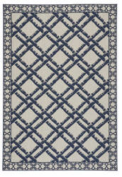Capel Williamsburg Elsinore Bamboo Trellis 4724 Midnight Blue Area Rug