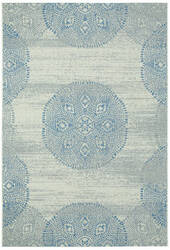 Capel Genevieve Gorder Elsinore Mandala 4732 Blueberry Area Rug
