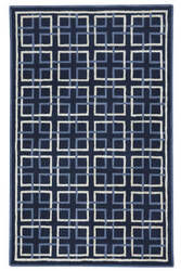 Capel Anthony Baratta Framework 9181 Dark Blue Area Rug