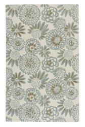 Capel Genevieve Gorder Pompon 9199 Light Grey Area Rug