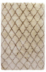 Classic Home Diamond Ritz Shag 3002 Ivory Area Rug