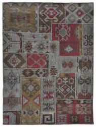 Classic Home Patchwork Kilim 3003 Charcoal Area Rug