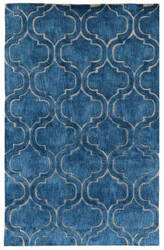 Classic Home Over Tufted 3004 Blue Area Rug