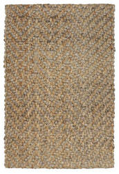 Classic Home Herringbone 3006 Natural - Grey Area Rug