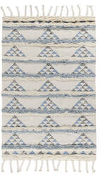 Classic Home Moroccan 3008 Blue - Ivory Area Rug
