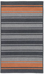 Colonial Mills Frazada Stripe Fz29 Charcoal /Orange Area Rug