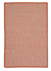 Colonial Mills Outdoor Houndstooth Tweed Ot19 Orange Area Rug