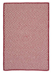 Colonial Mills Outdoor Houndstooth Tweed Ot79 Sangria Area Rug