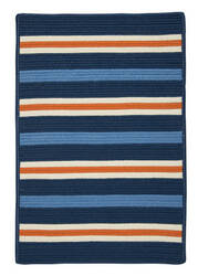 Colonial Mills Painter Stripe Ps41 Set Sail Blue Area Rug